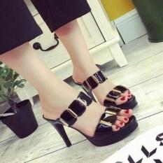 Spesifikasi Sandal Sepatu Wanita High Heels Us03 Hitam Baru