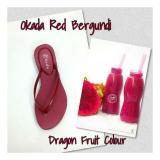 Harga Sandal Wanita Okada Fruit Red Bergundi Okada Online