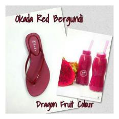Review Sandal Wanita Okada Fruit Red Bergundi Di Indonesia