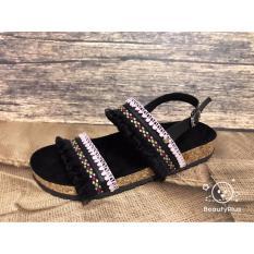 sandal wanita rumbay hitam pink
