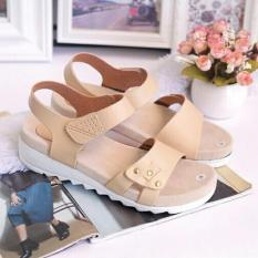 Sandal Wanita Sandal Wanita Wedges ( Sepatu / Sendal Cewek ) Fashion Wanita Amora Cream
