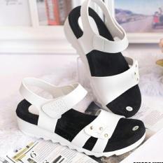 Sandal Wanita Sandal Wanita Wedges ( Sepatu / Sendal Cewek ) Fashion Wanita Amora White