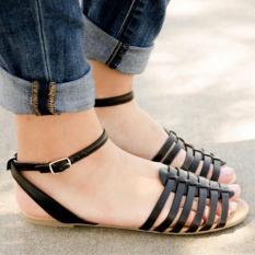 Sandal Wanita Teplek Black