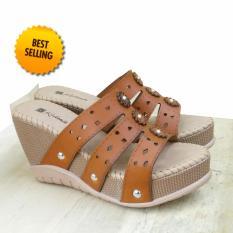 Sandal Wanita Weadges Kulit Laser / Alas Kaki Wanita / sandal berkualitas terbaik / alas kaki sandal - Berkualitas