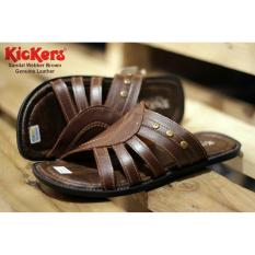 sandal Webber Brown Genuine Leather Kickers