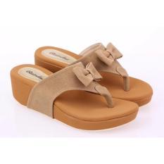 Spesifikasi Sandal Wedges Casual Heels Wanita Raindoz Rti 580 5Cm Coklat Paling Bagus