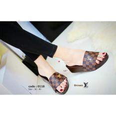 Sandal Wanita Model Terbaru Wedges LV AD68