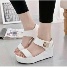 Sandal Wedges Model Wanita Model Terbaru  N 40 Putih (T)