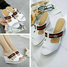 Sandal Sepatu Wedges Wanita Murah Terbaru ZR01 PutihIDR85000. Rp 85.000