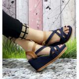 Review Terbaik Sandal Wedges Wanita Jeans Tali Sdw63