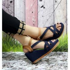 Review Toko Sandal Wedges Wanita Jeans Tali Sdw63