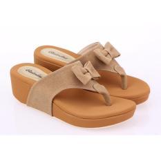 Jual Cepat Sandal Wedges Wanita Sendal Cewek Warna Coklat Raindoz Rti 580