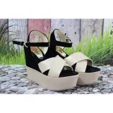 Diskon Sandal Wedges Wanita Tinggi 12Cm Bg45 Wedges Jawa Barat