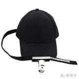 Beli Sanhuan Hip Hop Hip Hop Pria Dan Wanita Pin Panjang Topi Topi Topi Baseball File Klip Hitam Black Belt Dengan Kartu Kredit