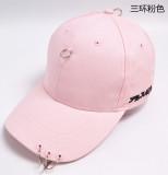 Jual Tiga Cincin Hip Hop Pria Dan Wanita Panjang Tali Topi Baseball Topi Sanhuan Merah Muda Oem Branded