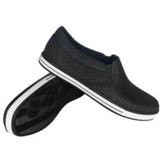 Sankyo Sepatu Karet Slip On - Black White
