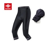 Beli Santic Bersepeda Pendek Capri Bike Cropped Trousers Equipment Breathable Pad Pria Celana Pendek Grey Intl Santic Murah