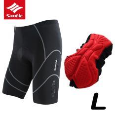 Jual Santic Pria Bersepeda Shorts Mountain Bike Shorts 4D Padded Culotte Ciclismo Bernapas Anti Keringat Downhill Shorts Uv Bukti Bicycle Shorts Di Bawah Harga