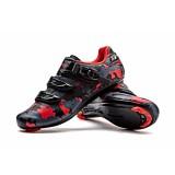 Spesifikasi Santic Pria Nylon Sole Road Bersepeda Sepeda Sepeda Sepatu Auto Lock Scarpe Sneaker Merah Intl Terbaik