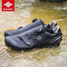 Promo Santic Mtb Putar Tombol Sepatu Untuk Eggbeater Shimano Spd System Bike Man Sepatu Hitam Intl