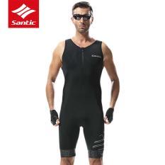 Spek Santic Triathlon Jersey For Bersepeda 4D Bantalan Cepat Kering Without Lengan Baju Jersey Sepeda Bersepeda Skinsuit For Renang Berlari Naik