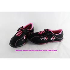 Harga Santica Minori Sepatu Kets Anak Perempaun Hitam Fusia Origin