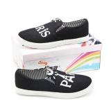 Jual Santika Sepatu Slip On Sneakers Anak Paris Denim Ssi 142 Nw Hitam Putih Original