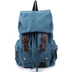 Toko Santorini Leather Backpack Biru Online