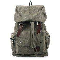 Santorini Leather Backpack Hijau Jawa Barat