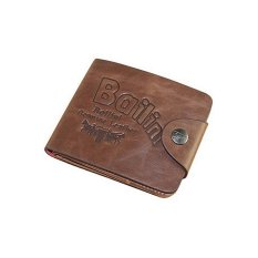 Sanwood Men Leather Wallet Card Clutch Cente Bifold Purse Brown - intl