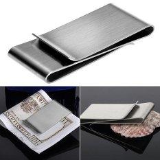 Sanwood® Stainless Steel Silver Warna Slim Money Clip Dompet Dompet Pemegang Kartu Kredit-Intl