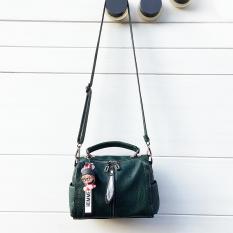 Beli Sanyuetian Retro Tas Bahu Dengan Satu Tali Selempang Miring Tas Kecil Tas Wanita Hijau Nyicil