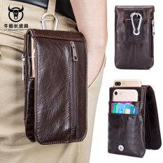 Spesifikasi Sapi Kulit Sapi Pria Memakai Handphone Tas Pinggang Coklat Terbaik