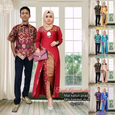 Sarimbit Batik Couple Terkini Ayunda - Warna Merah- Tosca- Late- Biru- Kuning - M L XL