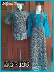 Sarimbit Gamis Batik Couple Baju Pasangan Batik Pekalongan Murah 19