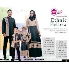 Sarimbit - Mutif - Abu Tua - Couple Baju Muslim Keluarga - Seragam - Nbdodc