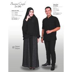 Sarmbit Couple Zenitha Zn 245 / Gamis Syari + Kaos Pria - Wmv3kk