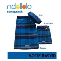 Review Sarung Anak Karet Pinggang Adjustable Motif Rasyid Ndollolo Jawa Barat