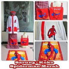 Sarung dan Koko Anak Karakter Spiderman Merah