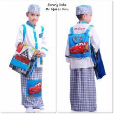 Sarung Koko Karakter Biru Trendy