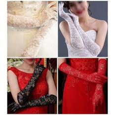 Sarung Tangan Gloves Import Brukat Kebaya Gaun Pengantin Wedding Dress - J8nrl7