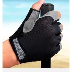 Sarung Tangan Half Finger Sepeda Gym Sports s9692 - Black