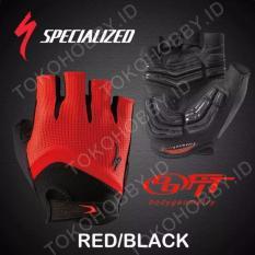Sarung Tangan Sepeda Specialized - Merah/Hitam