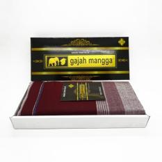 Sarung Tenun Merah Putih Merk Gajah Mangga