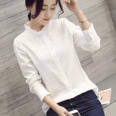Spesifikasi Sastra Perempuan Lengan Panjang Musim Semi Dan Gugur Baru Kemeja Katun Kemeja Putih Putih Baju Wanita Baju Atasan Kemeja Wanita Baru