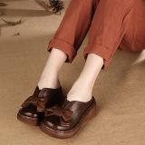 Ulasan Tentang Sastra Semi Dan Musim Panas Asli Kulit Sandal Wanita Kopi Warna