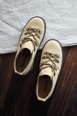 Sastra Sepatu Renda Perempuan Sepatu Gunung Lulur Sepatu Kulit Sapi (Coklat)