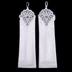 Satin Merah Baru Putih Gaun Pengantin Sarung Tangan Mempelai Wanita Sarung Tangan (Off-White (Tidak Ada Mulut Lengan Baju Lipatan))