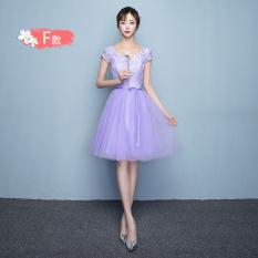 Harga Suster Gaun Ungu Baru Rok Gaun Korea Fashion Style Perempuan 816 Pendek Ungu Ayat F Yang Bagus