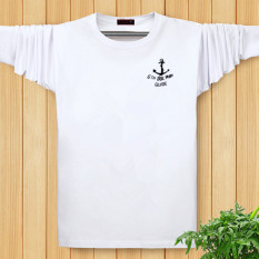 Saudara Lemak Anda Meningkatkan Jumlah Gaun Orang Gemuk Bottoming Kemeja Baru Lengan Panjang Kaus (Putih)